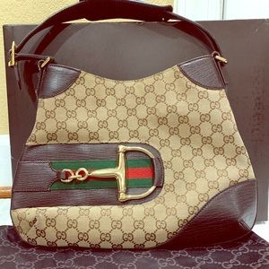 GUCCI HOBO GG Signature Bag with Dust Bag